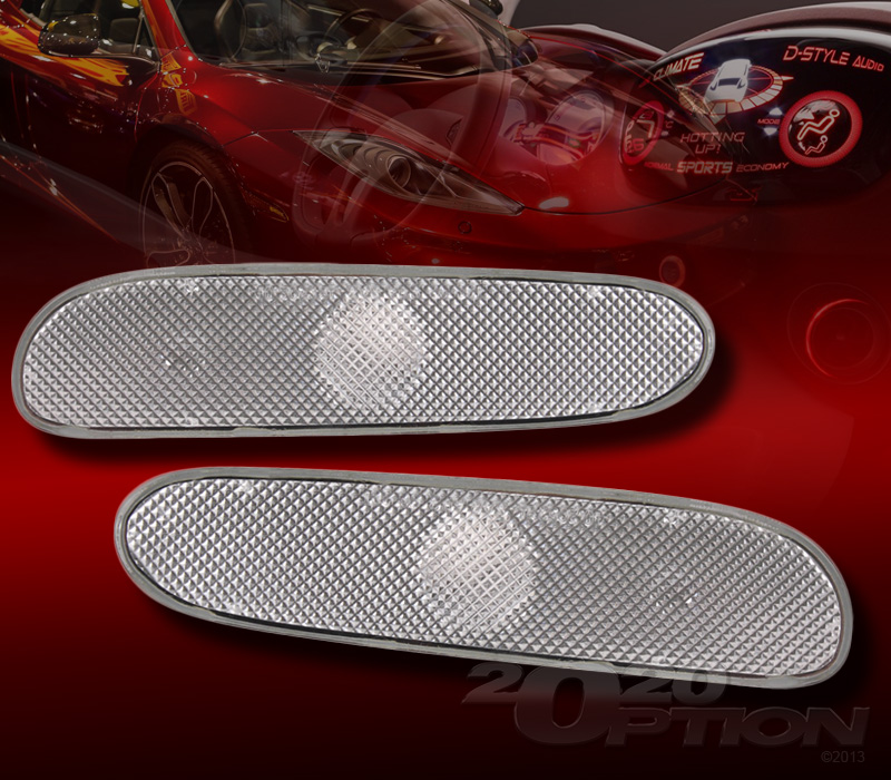 00 05 Dodge Neon Clear Bumper Side Marker Turn Signal Lamps Lights Left Right