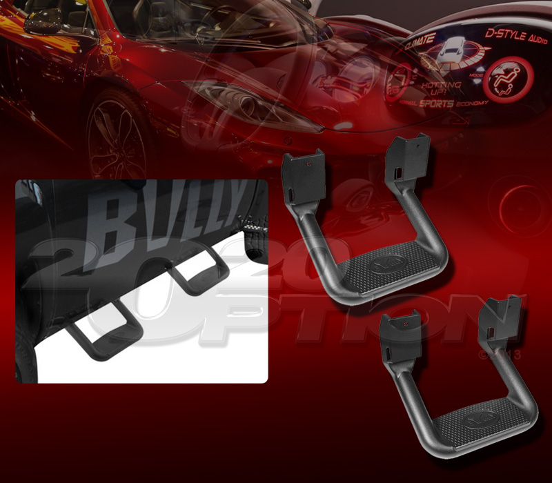 Pair Bully Black Truck Suv Side Step Nerf Bar For Ford