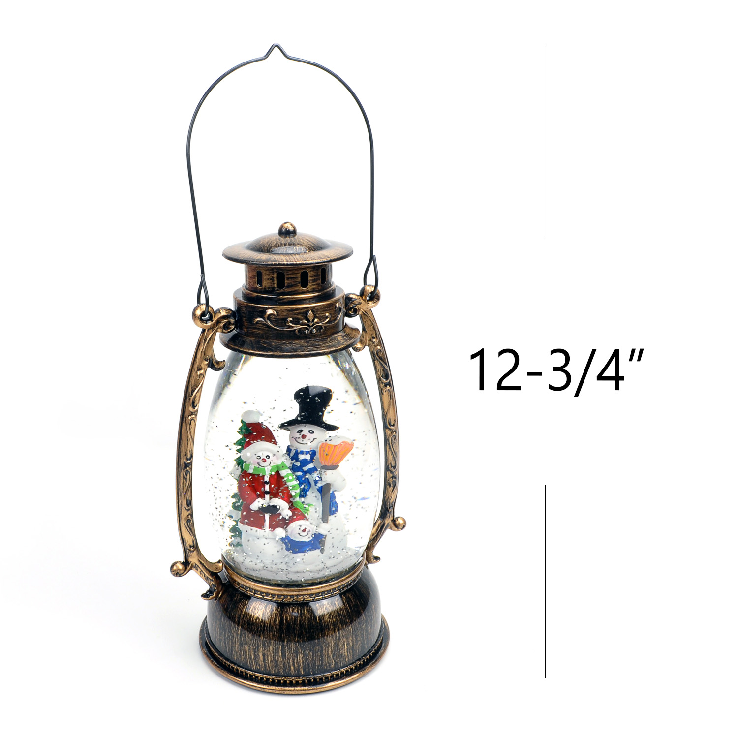 Christmas-Snow-Globe-LED-Lighted-Lantern-Battery-Operated-Swirling-Glitter-Water thumbnail 20