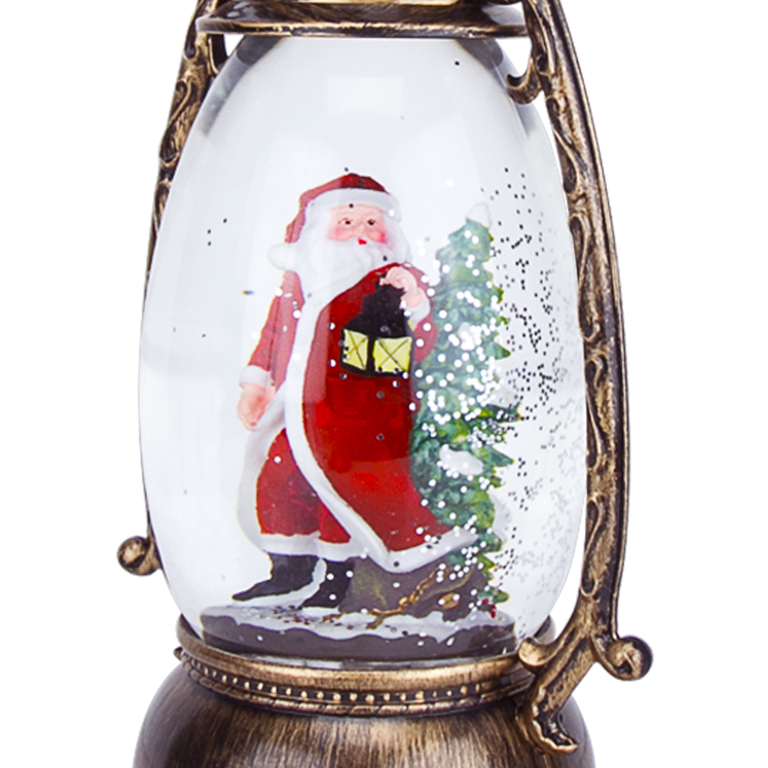 Christmas-Snow-Globe-LED-Lighted-Lantern-Battery-Operated-Swirling-Glitter-Water thumbnail 13